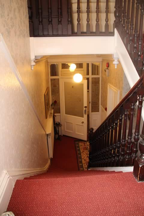 Hall and elegant Victorian stairway