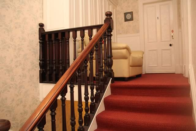 Stairway at No 9 Guest House Perth, Scotland
